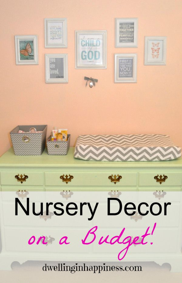 Nursery Decor, on a Budget! This is just so sweet and @dwellinghappy did a wonderful job.