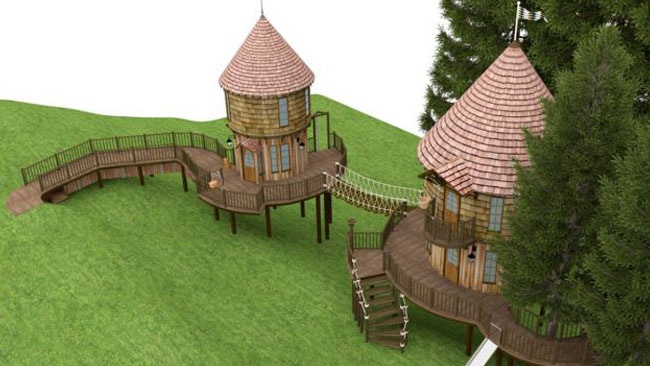 Hogwarts-style tree houses planned for JK Rowling's kids