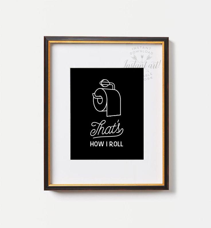 Grappige badkamer print AFDRUKBARE kunst thats door TheCrownPrints