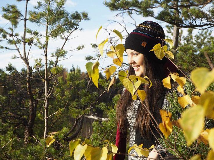 Native Beanie draws its inspiration from Finnish Karelian national costumes. #native #graphic #merino #wool #beanie #finnish #design