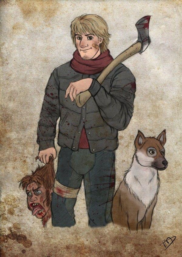 les personnages de disney en the walking dead 10   Les personnages de Disney en The Walking Dead   The Walking Dead photo parodie michonne k...