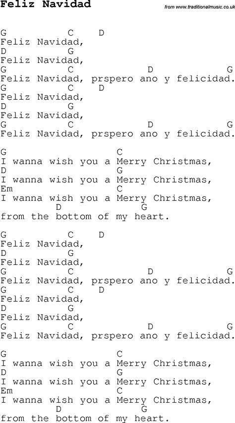 Feliz navidad song lyric