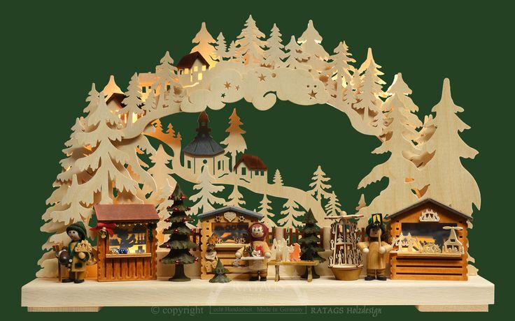 3D-Schwibbogen kl., Seiffener Weihnachtsmarkt
