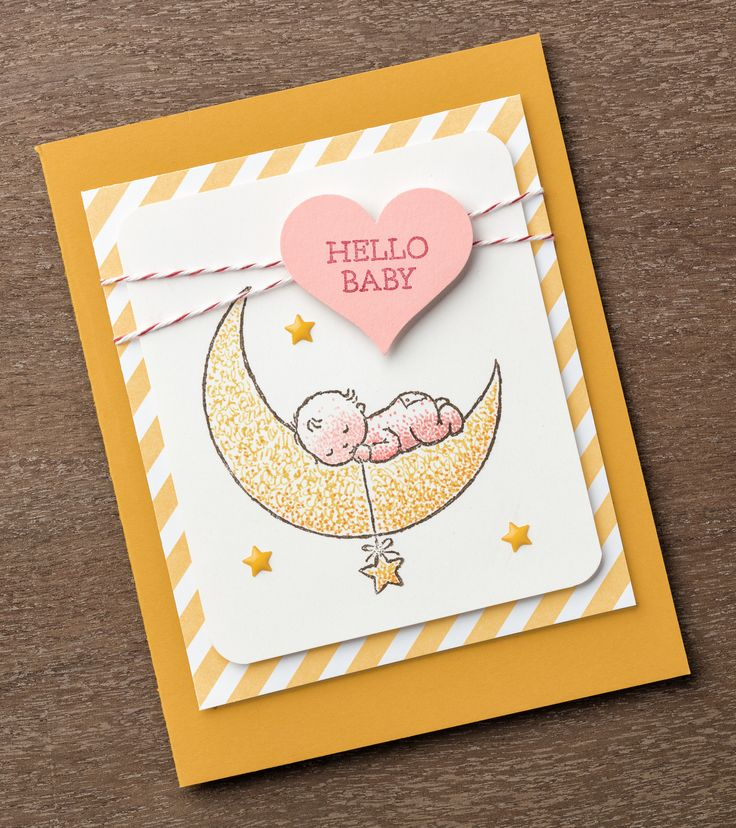Love you to the moon and back, and love the Moon Baby stamp set too! #stampinup #OccasionsMini2017