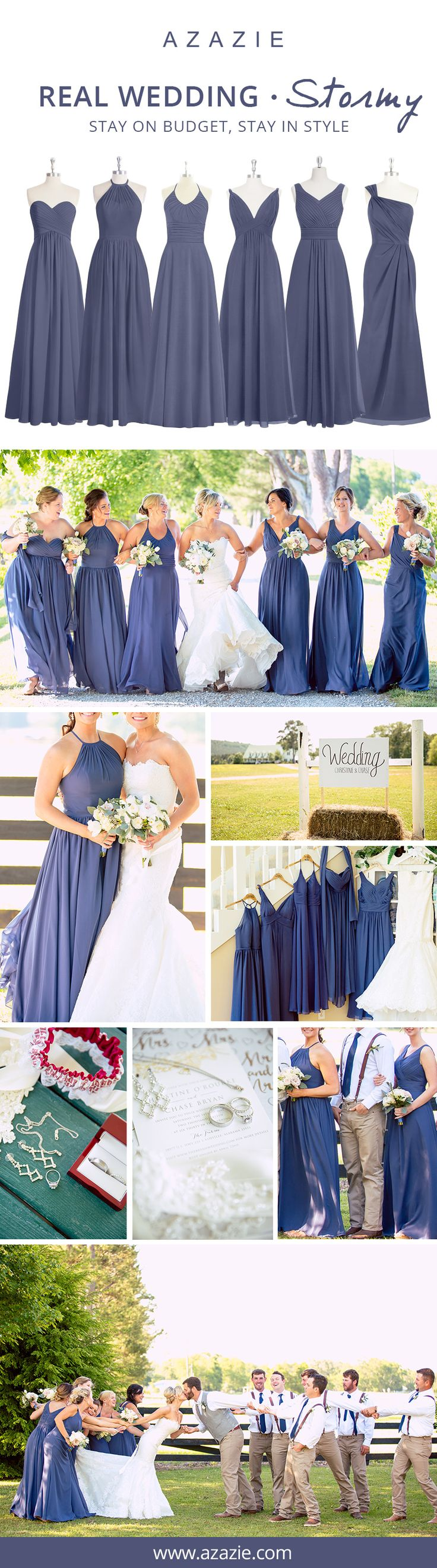 Best 25 different bridesmaid dresses ideas on pinterest navy stormy is the way to steal the show on your wedding day let your bridesmaids personalities shine and mix n match your bridesmaid dresses mix colors ombrellifo Images