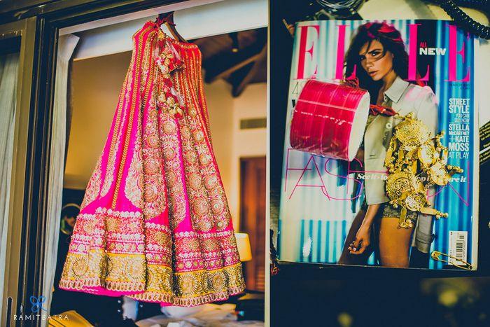 pink sabyasachi lehenga #bridal #wedmegood