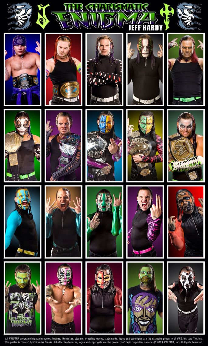 """Evolution of """"The Charismatic Enigma"""" Jeff Hardy 