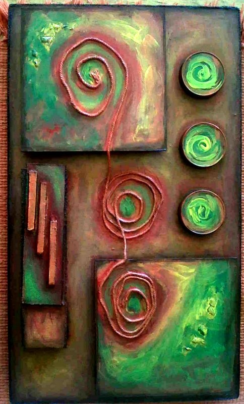 Recycle Abstract - Green and Orange
