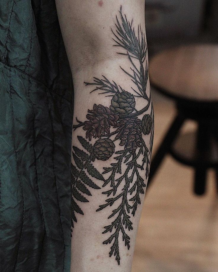 Pine tattoo by Olga Nekrasova