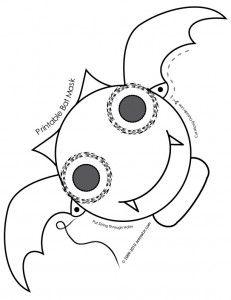 Cute Printable Halloween Animal Paper Masks Bat Mask Coloring Page Fantasy Jr Use A Craft Stick