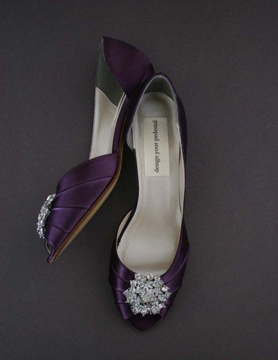Scarpe da sposa viola prugna / sposa di EllieWrenWeddingShoe