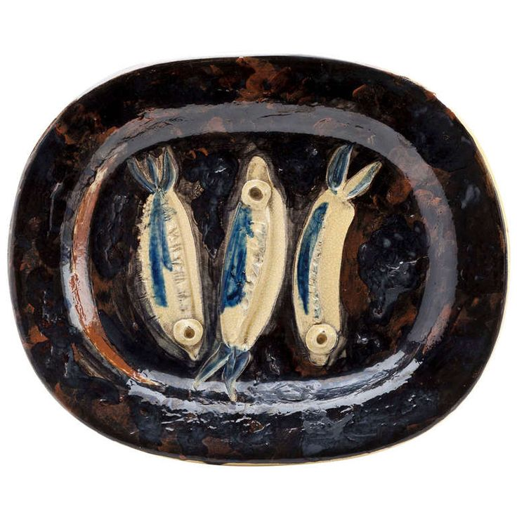 "Picasso ""Three Sardines"" Platter 1948 