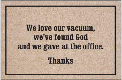 We Love Our Vacuum Doormat