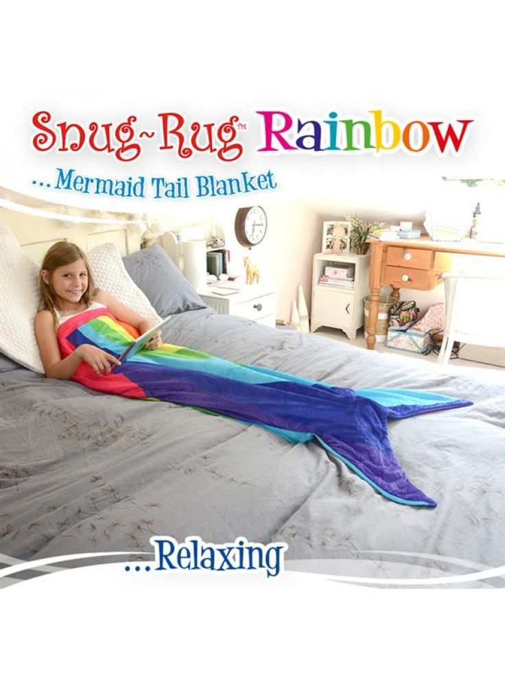 If your child loves Mermaids and Rainbows this blanket will be a dream come true! Made from high quality, super soft, fleece fabric.