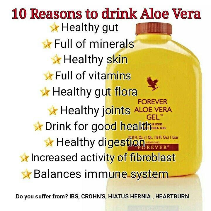 10 Reasons to drink Aloe Vera. Do you suffer from? IBS, CROHN'S, HIATUS HERNIA, HEARTBURN