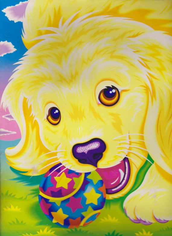 Vintage 90s Lisa Frank Folder Casey the Golden by LolidollDiy,