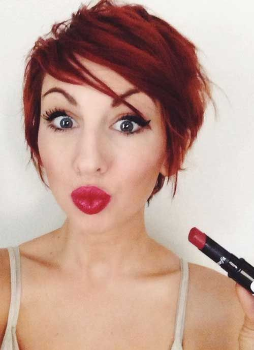 Short Red Hairstyles more info short red hairstyle by jamison shaw The 25 Best Short Red Hair Ideas On Pinterest Short Auburn Hair Short Red Hair Color With Highlights And Auburn Hair With Highlights