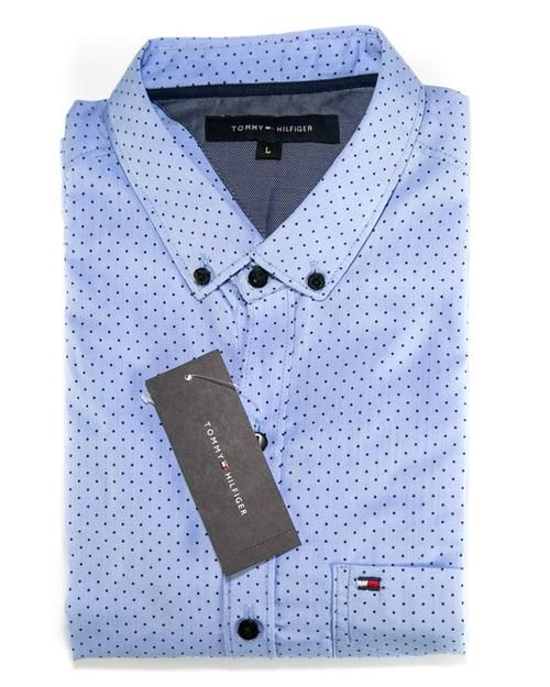 3ba2fb14d Men Cotton Polka Dotted Shirts   Party Shirts By Tommy Hilfiger ...