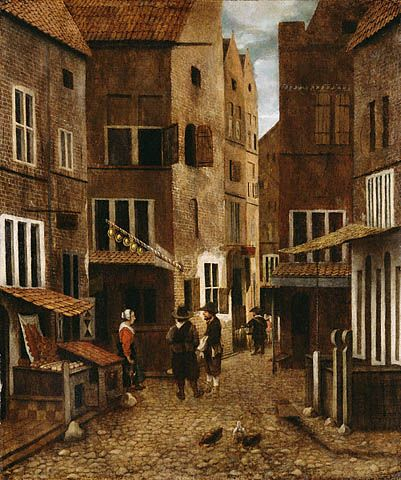 Jacobus Vrel (1617-1681) was a Dutch Golden Age genre painter about 1654 - 1662 Oil on panel 16 1/4 x 13 1/2 in.