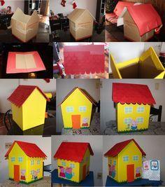 Hice para el cumpleaños de mi hija tarjetas 3D de Peppa Pig - Taringa!