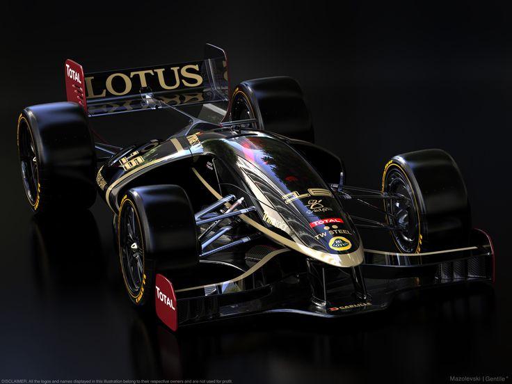 Lotus F1 car rendering:  https://www.behance.net/gallery/44779725/Lotus-F1