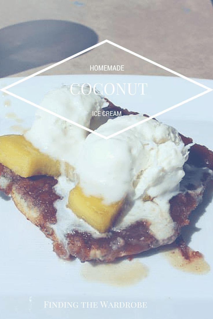 Healthy Homemade Coconut Ice Cream - Finding the Wardrobe