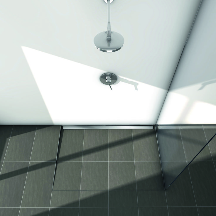 Odwodnienie liniowe TECEdrainline www.tece.pl #DESIGN #ModernBathroom #TECE #SHOWER