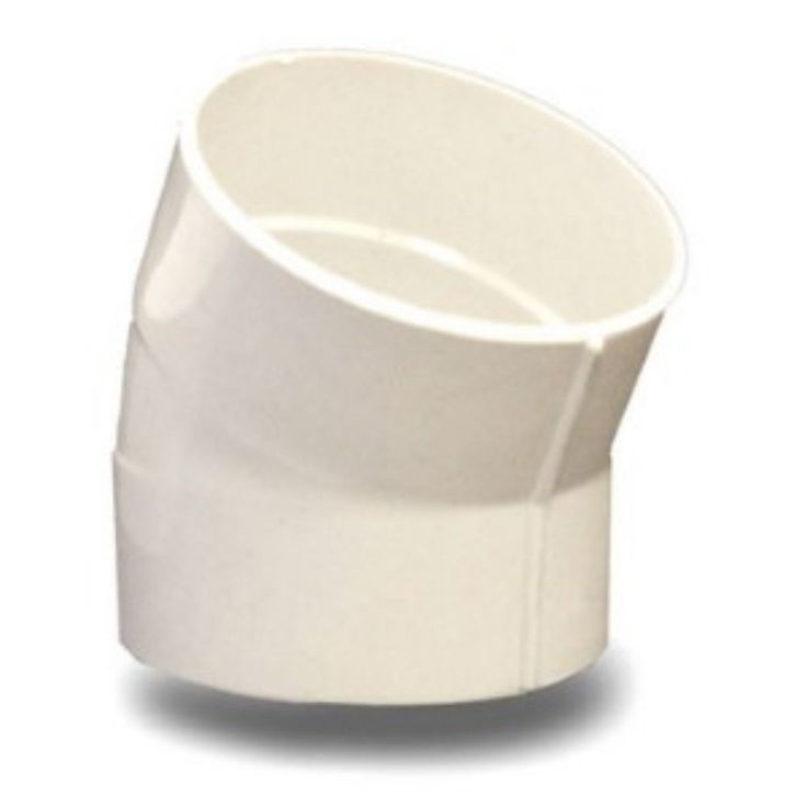 4 Inch 22 1/2 Degree Solvent Weld PVC Elbow