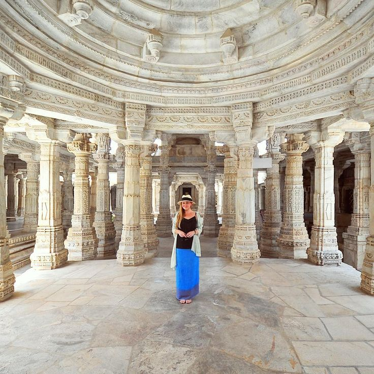 Liz......From our trip to India: Ranakpur temple in Rajasthan. Photo by TravelPlusStyle.com •••