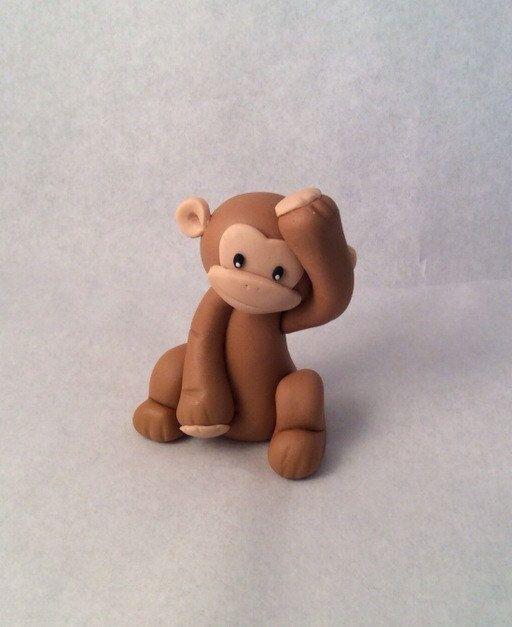 Fondant Monkey Cake Topper Boy or Girl by ToppersbyAlma on Etsy https://www.etsy.com/listing/223139595/fondant-monkey-cake-topper-boy-or-girl