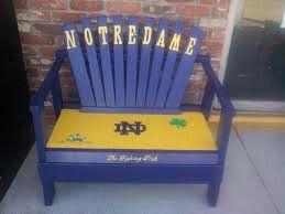 Notre dame irish chair