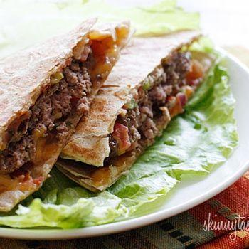 Skinny Buffalo Burger Quesadilla Recipe - Skinnytaste