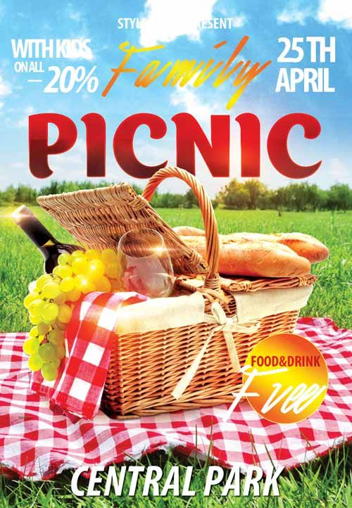 family picknic free flyer template