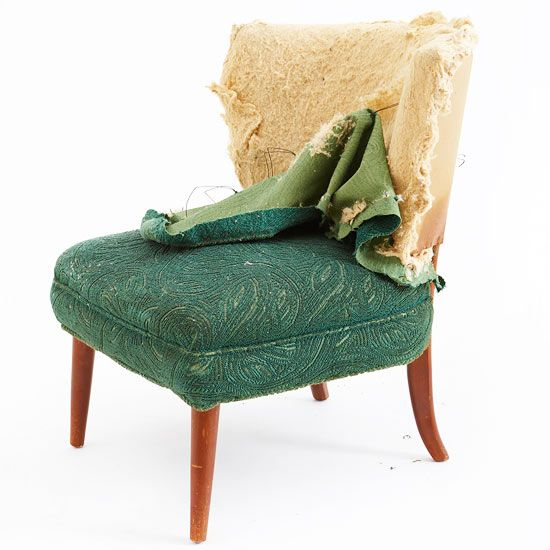 bhg.com how-to reupholster a chair.  Looks daring but I think I could do it....