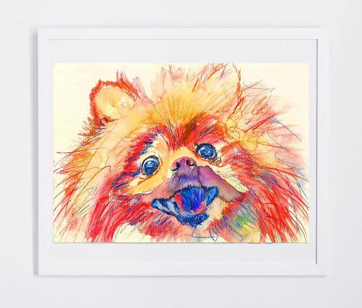 Pomeranian Dog painting Deutscher Spitz; Zwergspitz; Spitz nain;… #doglover #PomeranianPrint https://t.co/CTsaqQpEmJ:… #dogs #pets #puppy