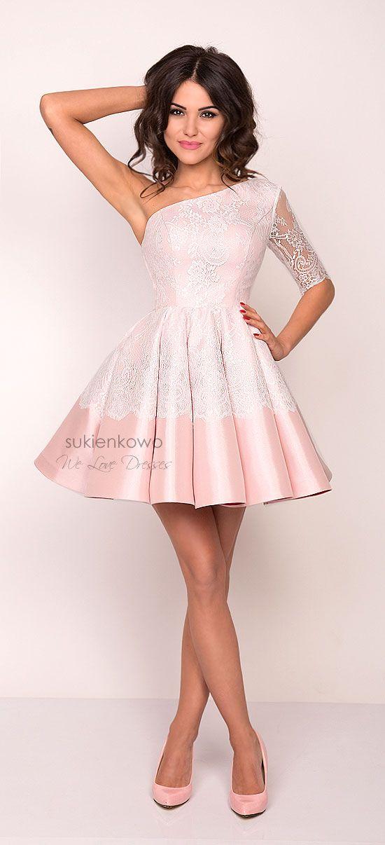 VOQUE Sweterkowa sukienka bez ramion
