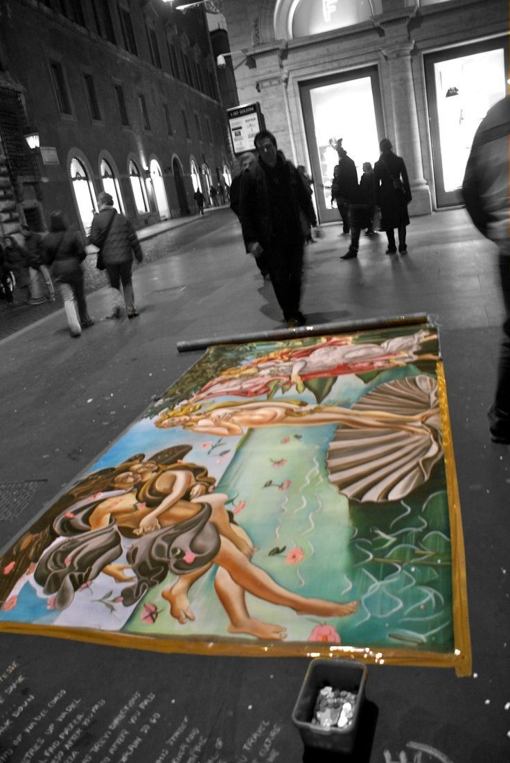 Sidewalk Chalk Art. Rome, Italy [PhotobyDaisyScott]   – Creativity – #art #Chalk…   – Street Art