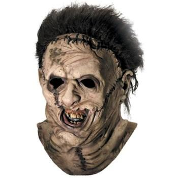 halloween leatherface deluxe adult overhead mask with hair