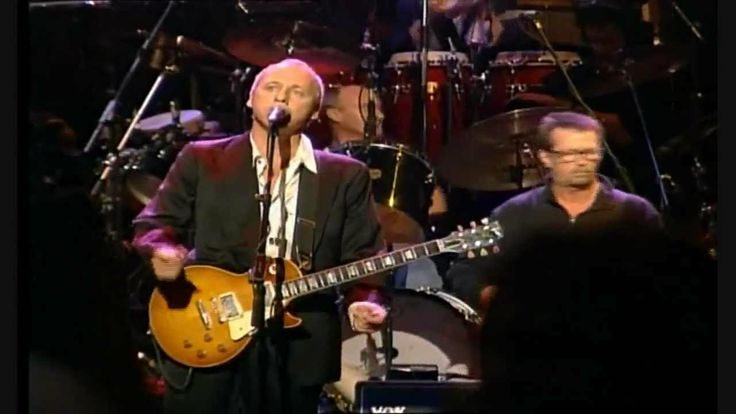 Mark Knopfler, Sting, Eric Clapton, Phil Collins - Money For Nothing Song about sloring musicians.