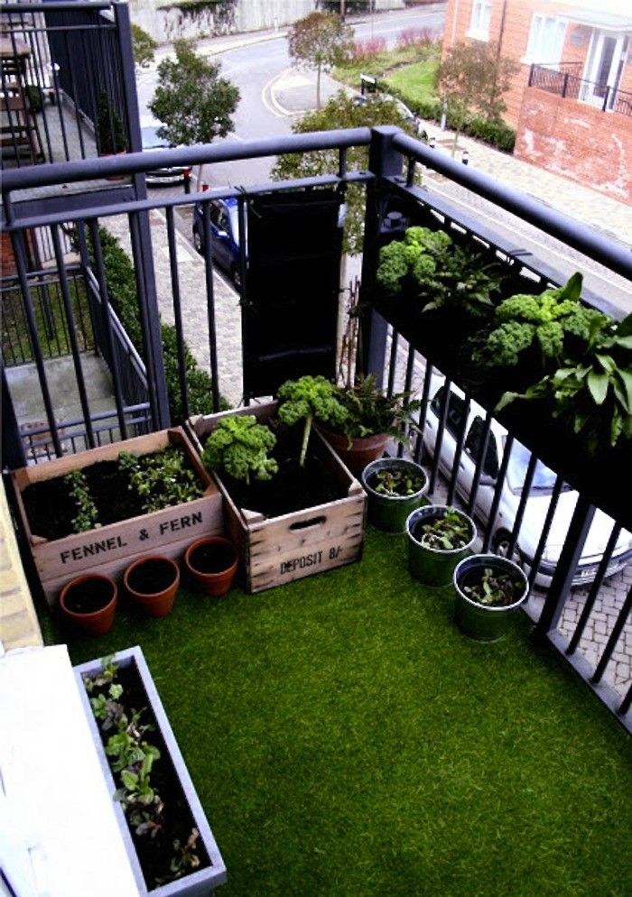 Artificial turf creates an instant lawn on a small urban balcony
