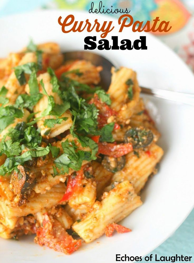 Delicious Curry Pasta Salad- so easy & yummy to make for a BBQ, or to pack for lunch!