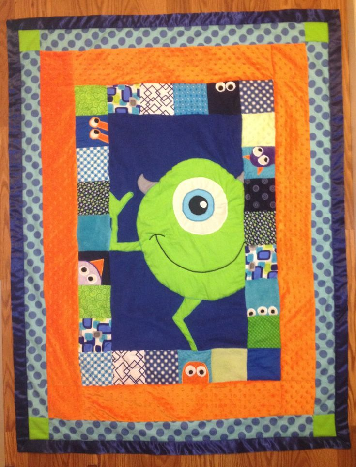 Monster S Inc Mike Quilt For A Toddler Baby Blankets