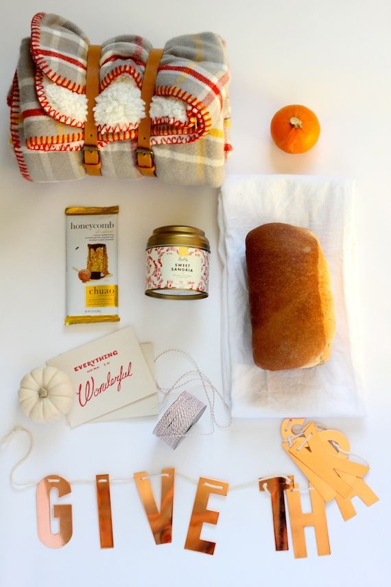 How To: Assemble the Perfect Fall Gift Basket for Thanksgiving guests.
