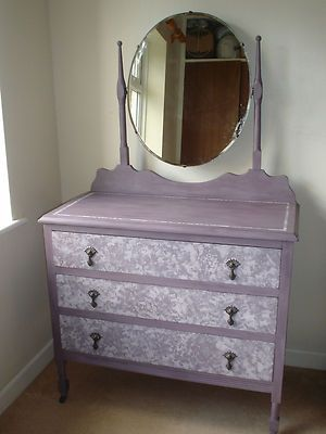 shabby chic dressing table/chest of drawers