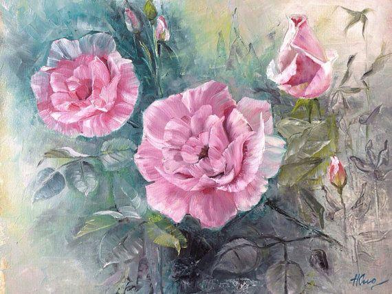 Pittura con i colori ad olio Vintage Natura Morta di NatalieCugArt