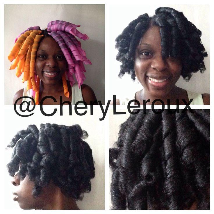Satin Sponge Rollers Natural Hair
