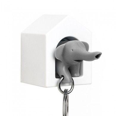 Maison porte-clés Eléphant gris par Qualy Design (12€)