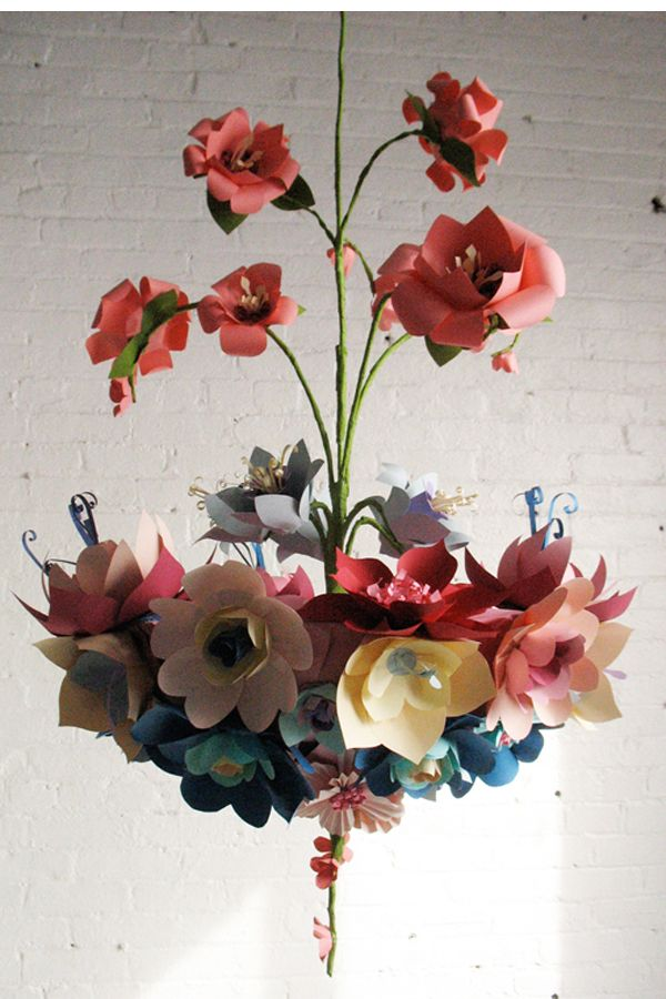 Paper Flower Chandelier by the incredible Eloise Corr Danch