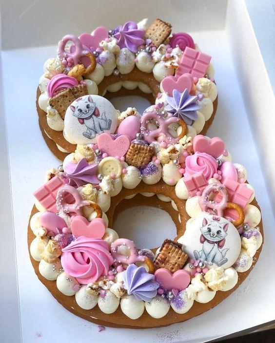 15 Kuchen in Form von Zahlen, die zu schön zum Essen sind