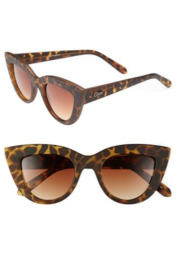 Quay 'Kitti' Sunglasses Tortoise